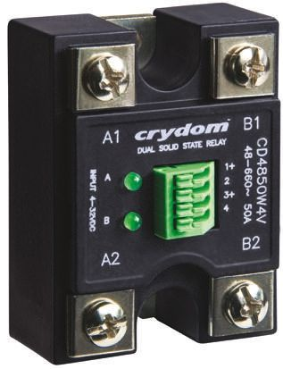 Sensata / Crydom 50 A rms Solid State Relay, Zero Cross, Panel Mount, 600 V rms Maximum Load