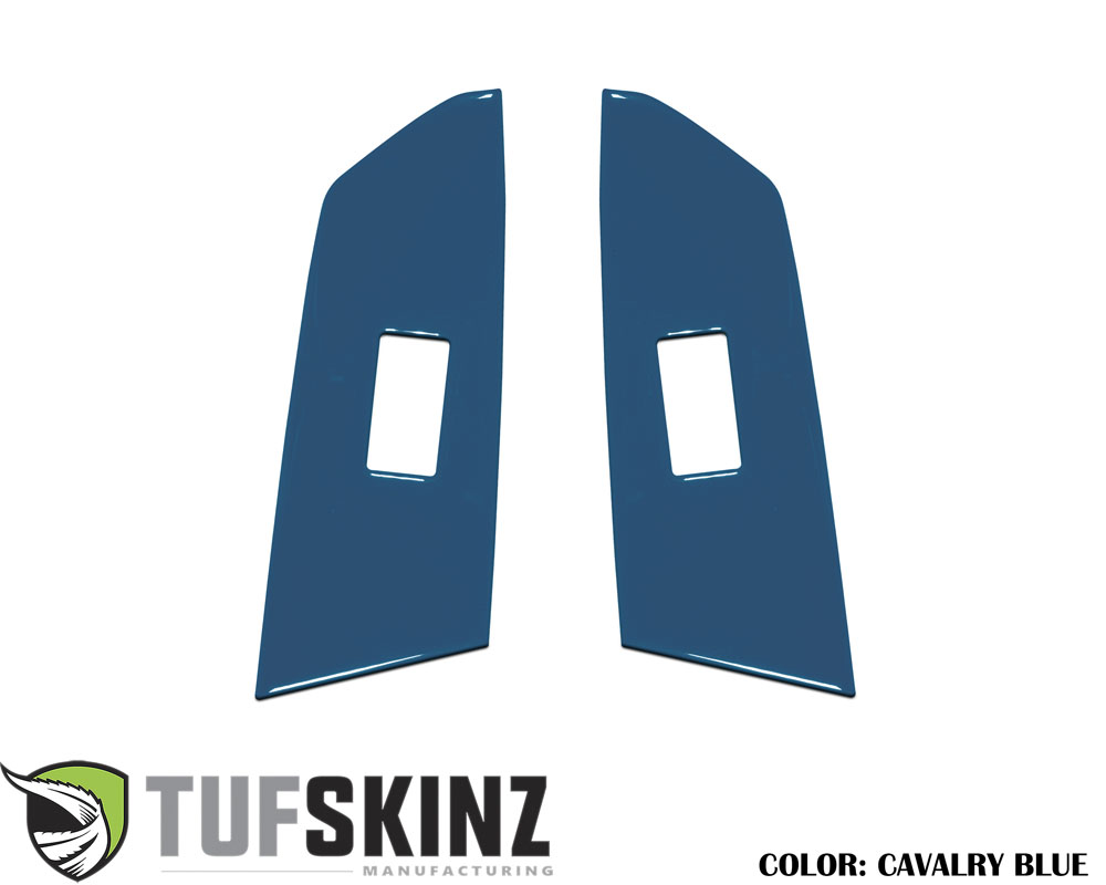 Tufskinz TUN029-CYB-G Crewmax Rear Door Switch Panel Accent Trim Fits 14-up Toyota Tundra 2 Piece Kit Cavalry Blue