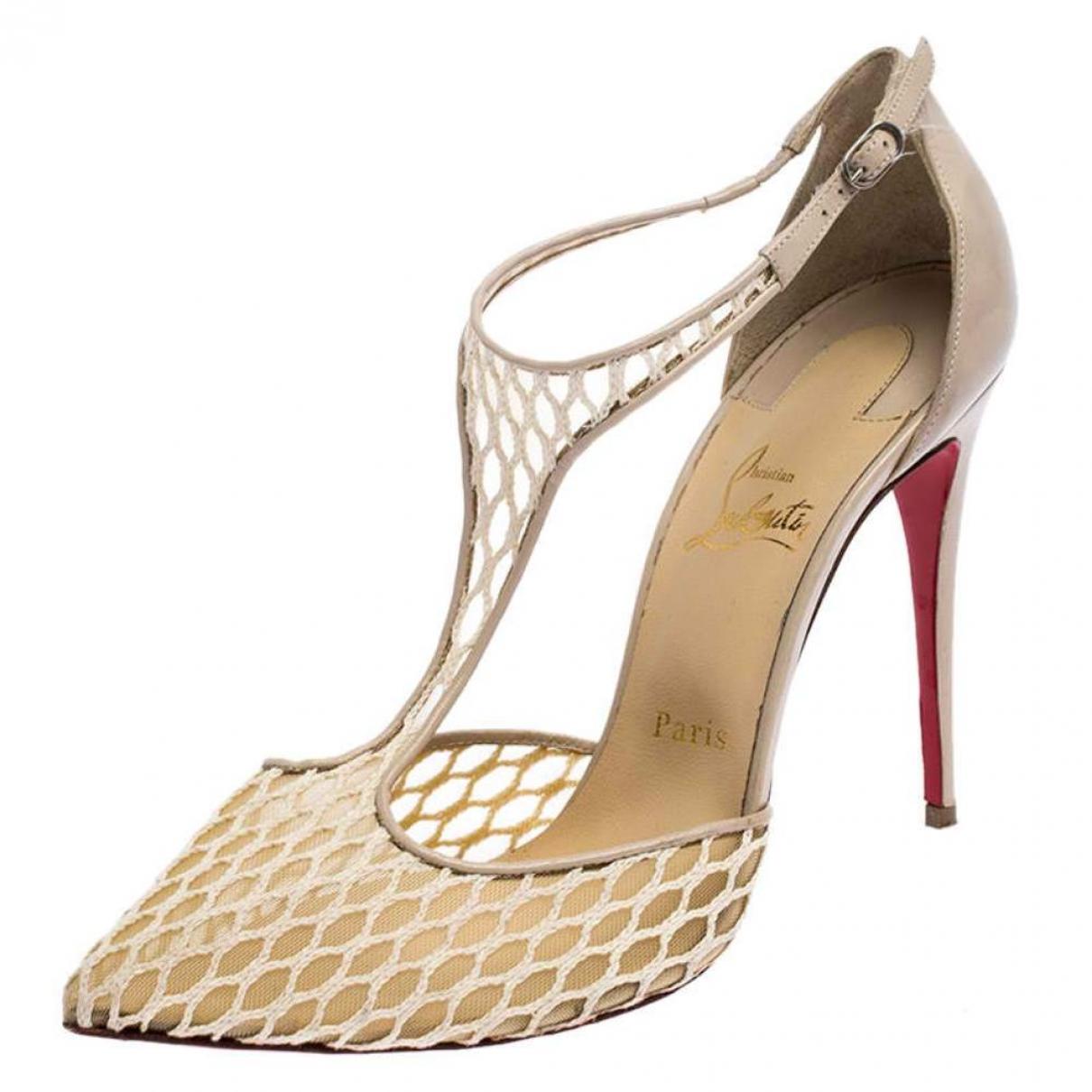 Christian Louboutin \N Beige Leather Heels for Women 9.5 US