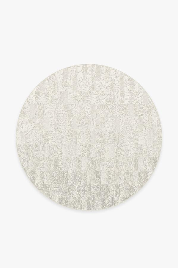 Washable Rug Cover & Pad | Granite Ombre Light Grey Rug | Stain-Resistant | Ruggable | 6' Round