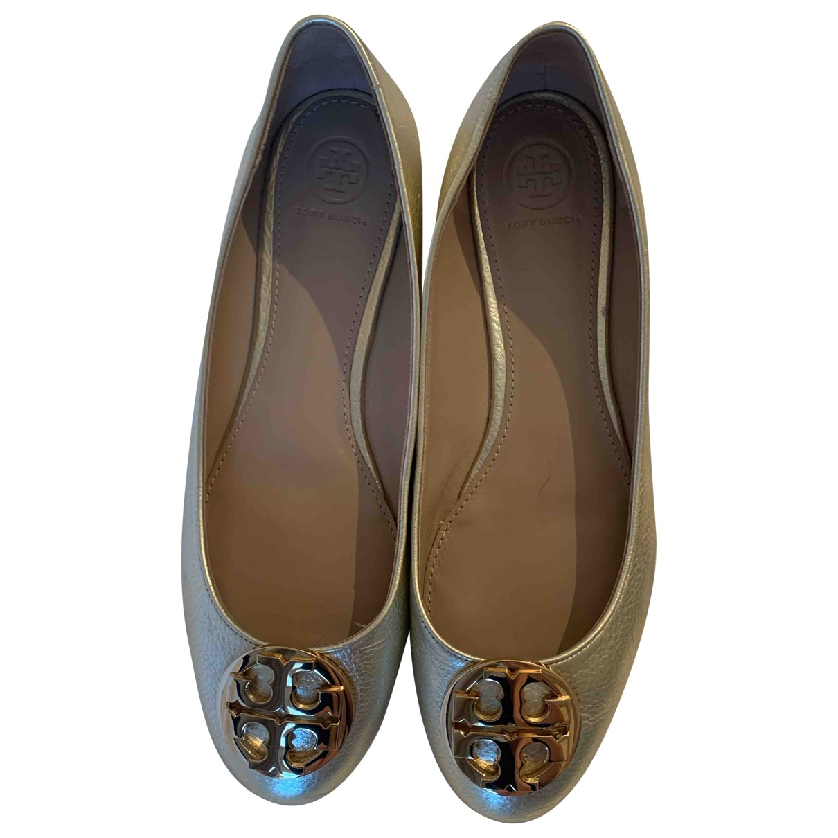 Tory Burch \N Gold Leather Ballet flats for Women 9.5 US