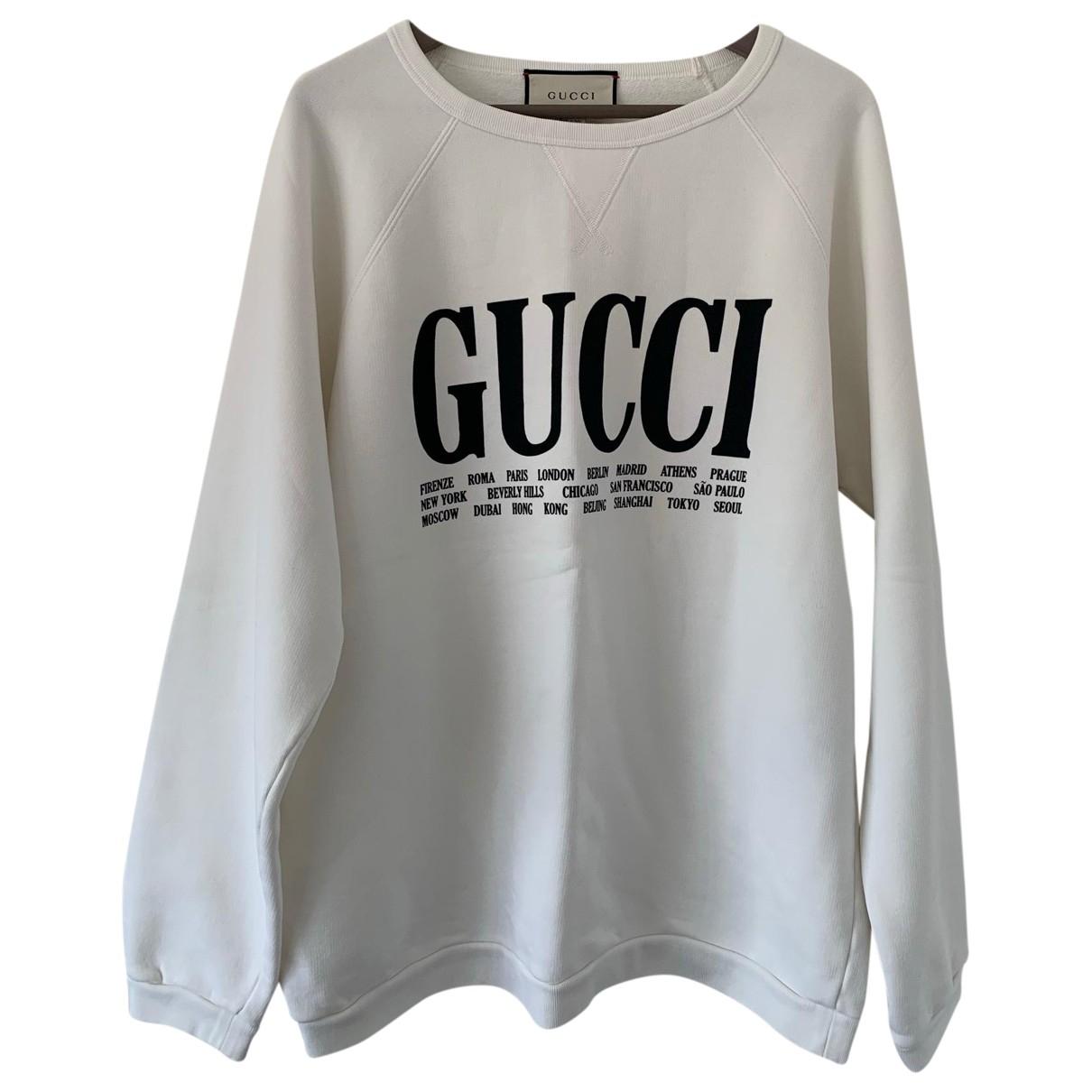 Gucci \N Pullover.Westen.Sweatshirts  in  Weiss Baumwolle
