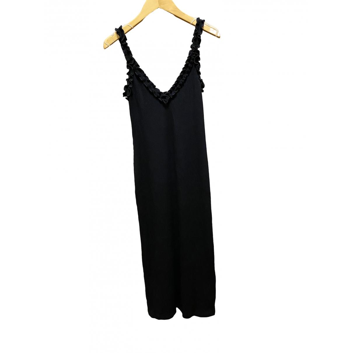 Aritzia \N Kleid in  Schwarz Baumwolle