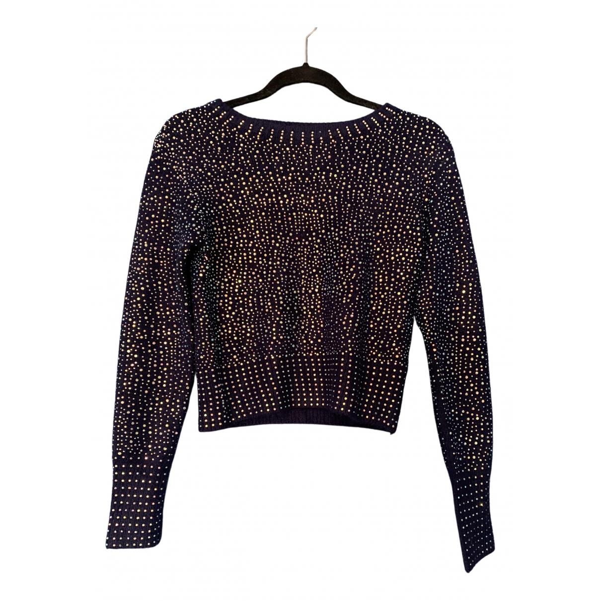 Zara \N Pullover in  Blau Synthetik