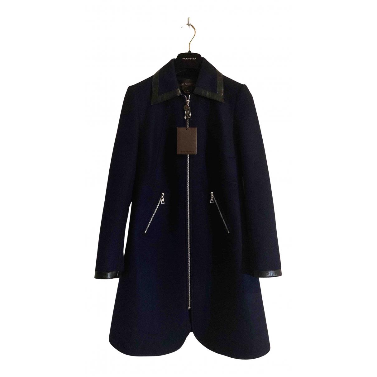 Louis Vuitton - Manteau   pour femme en laine - bleu
