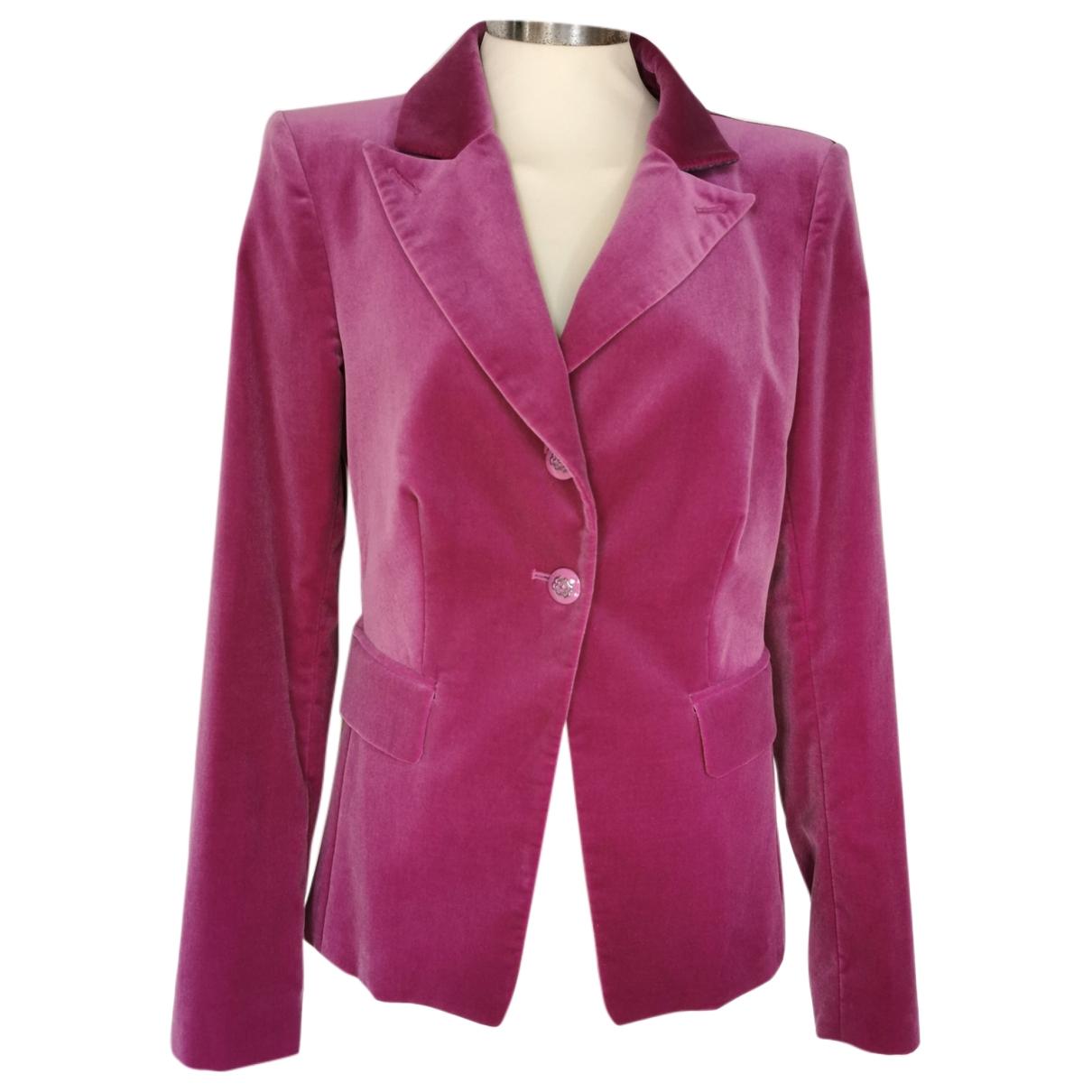 Pinko - Veste   pour femme en velours - rose