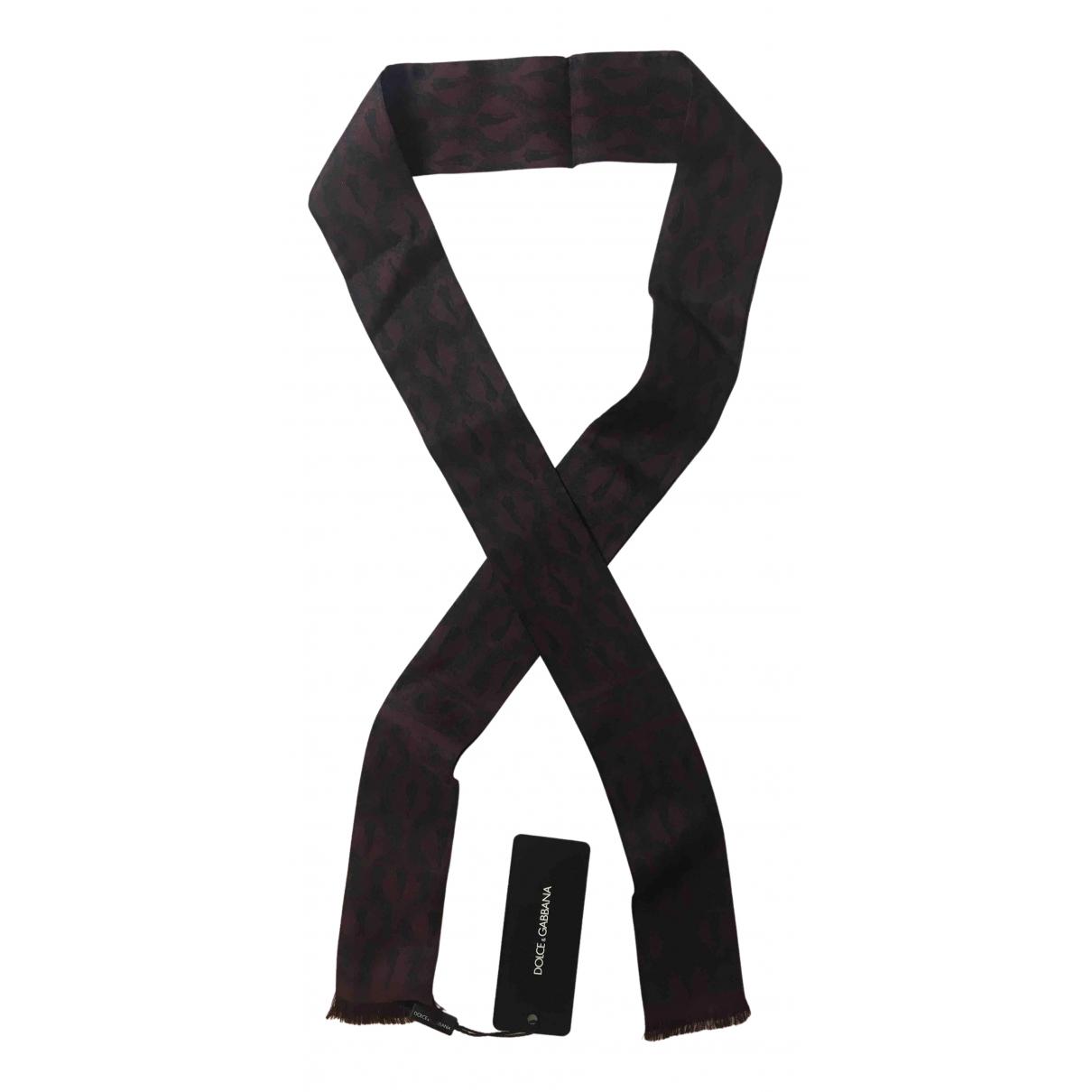 Dolce & Gabbana \N Burgundy Silk scarf & pocket squares for Men \N