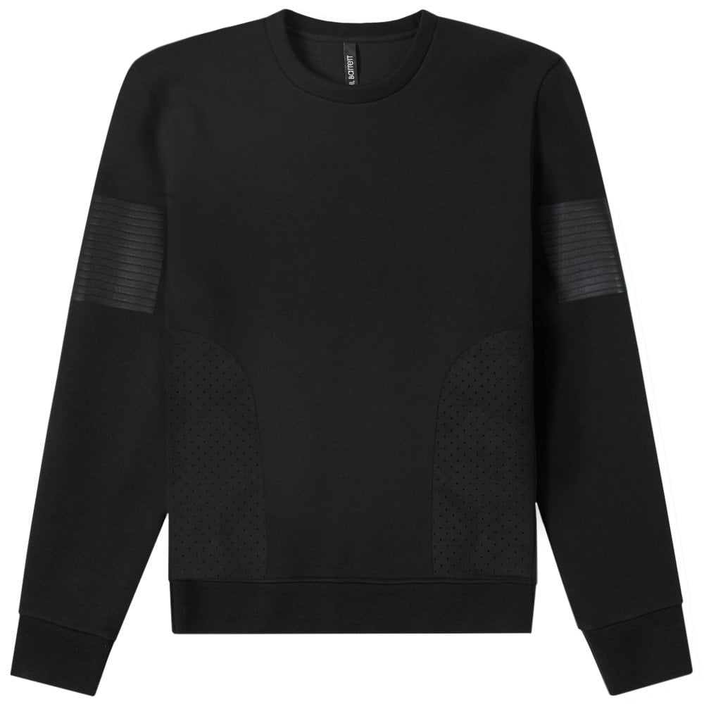 Neil Barrett Neoprene Panelled Sweatshirt Colour: BLACK, Size: LARGE