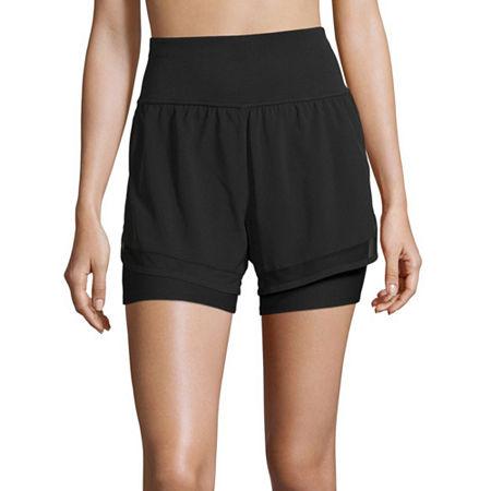 Xersion Train Womens Workout Shorts, Small , Black