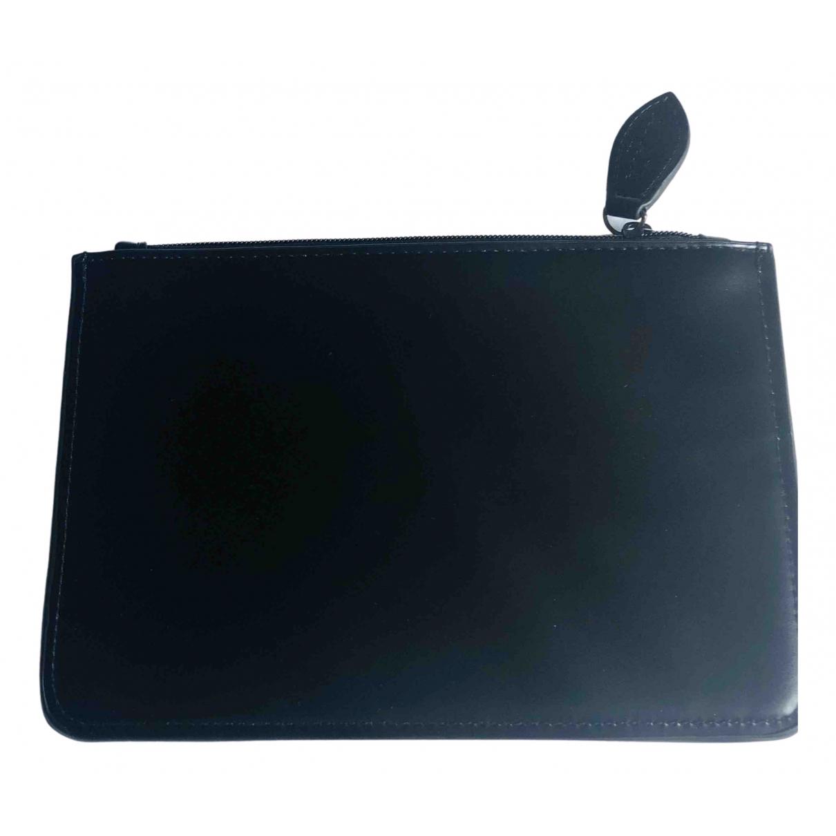 Alaia - Pochette   pour femme en cuir - noir