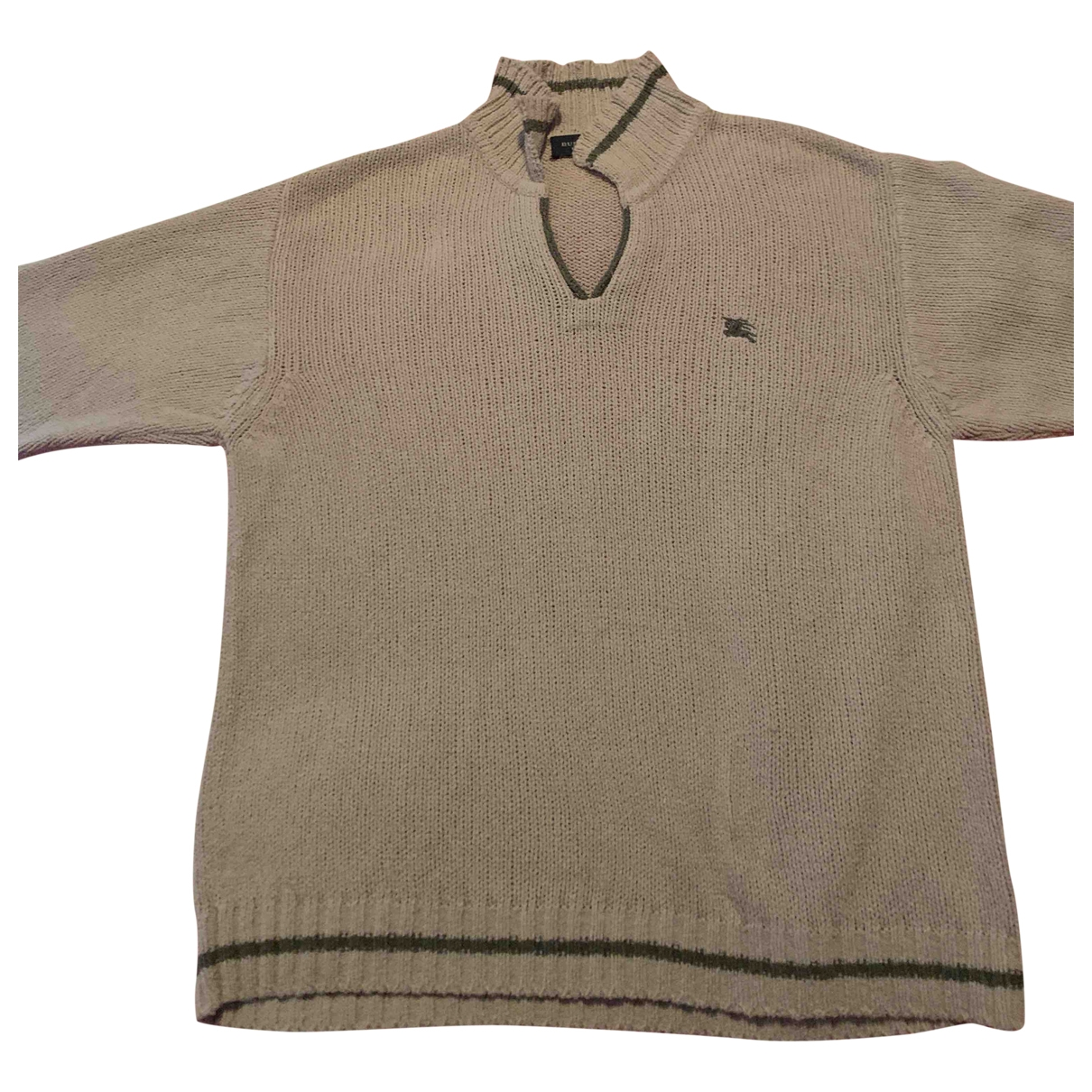 Burberry - Pull   pour enfant en lin - beige