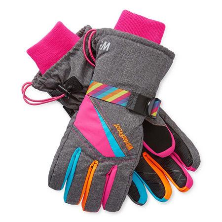 WinterProof Little & Big Girls Cold Weather Gloves, Small-medium , Gray