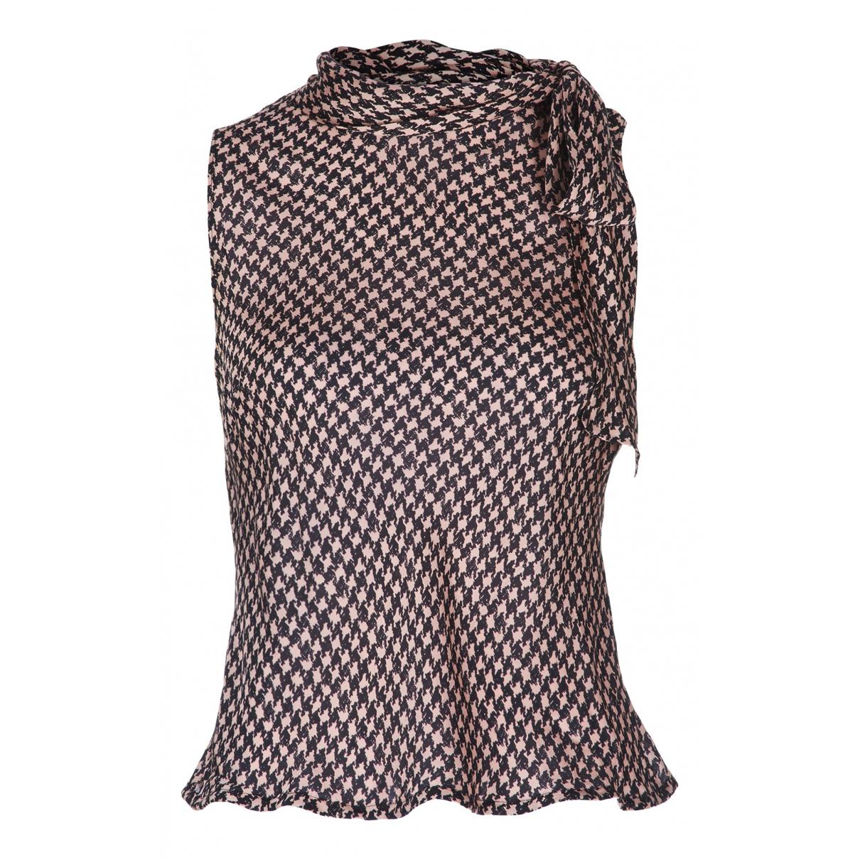 Moschino - Top   pour femme en soie - multicolore