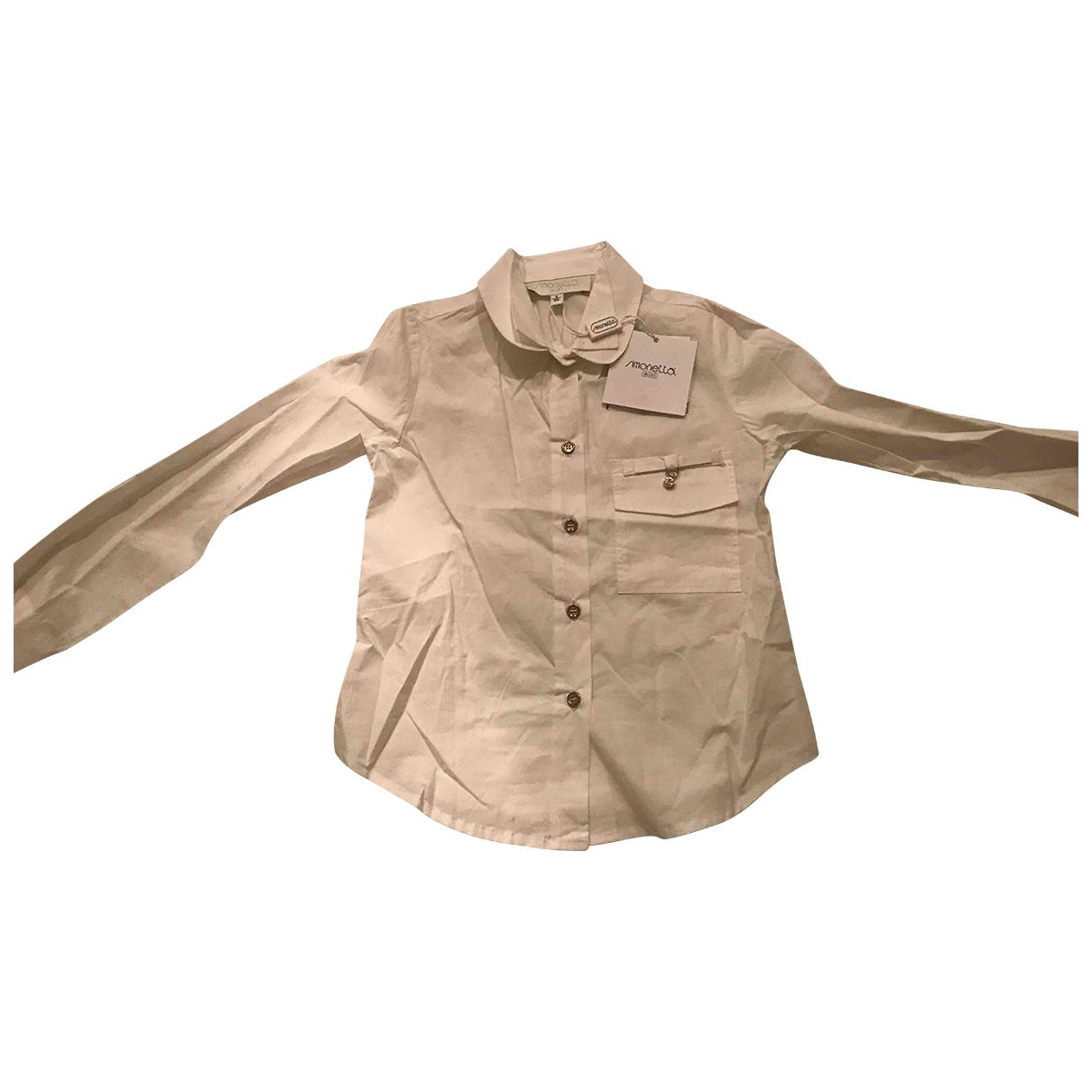 Simonetta - Pull   pour enfant en coton - blanc