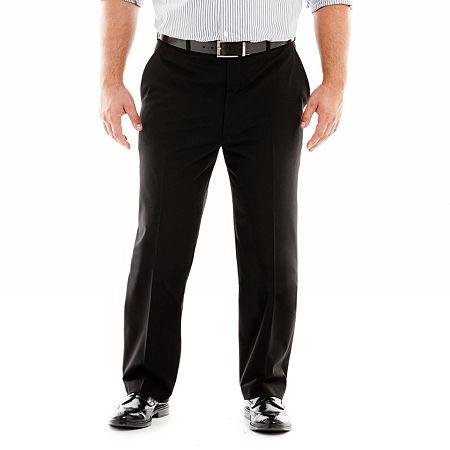 JF J. Ferrar Stretch Gabardine Suit Pants-Big & Tall, 46 30, Black