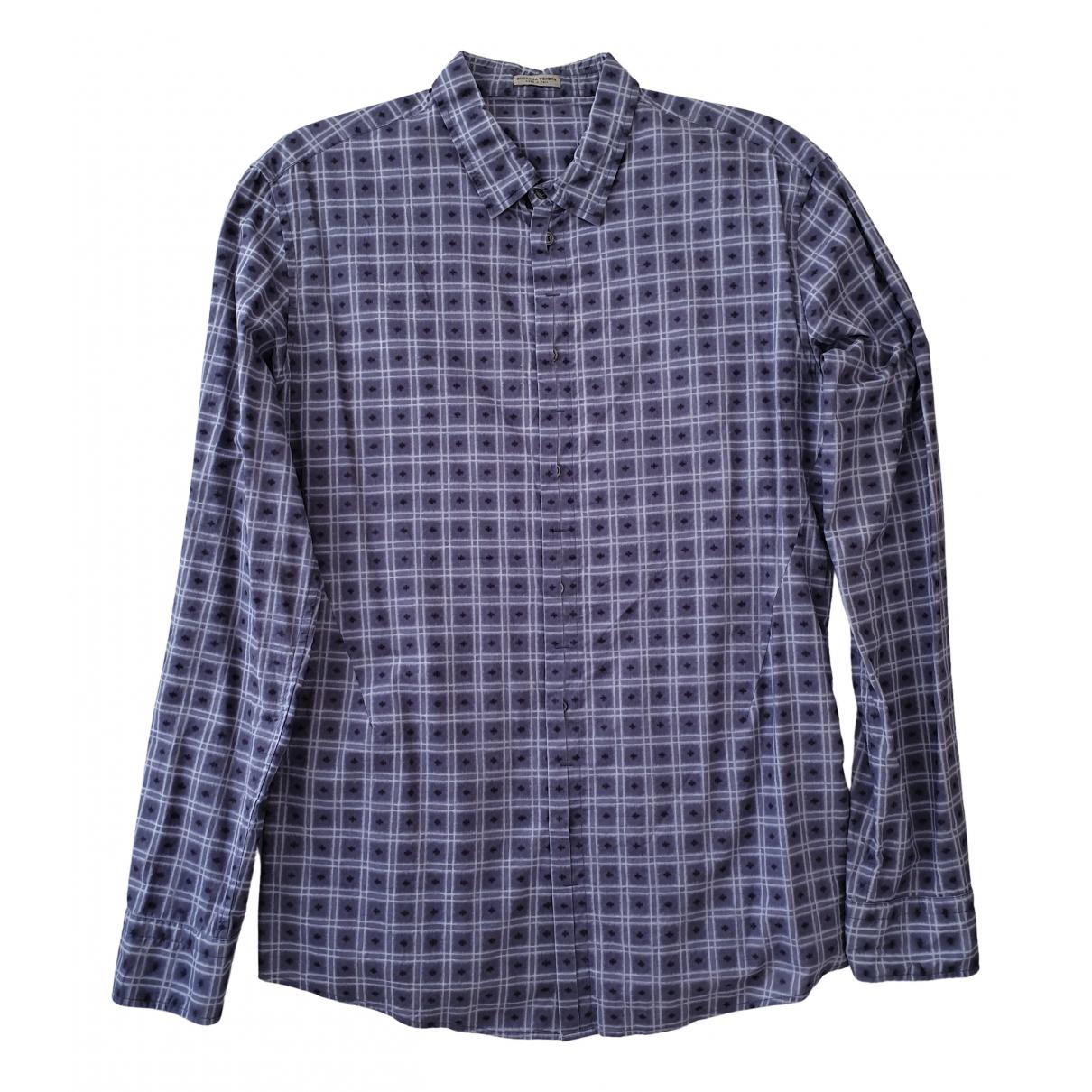 Bottega Veneta \N Blue Cotton Shirts for Men M International
