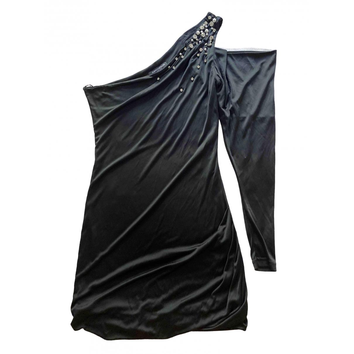 Flavio Castellani \N Kleid in  Schwarz Baumwolle - Elasthan