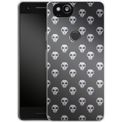 Google Pixel 2 Silikon Handyhuelle - Digital Skulls von caseable Designs
