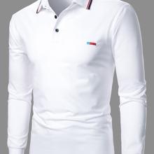 Polo Shirt mit Kontrast Saum und Stickereien