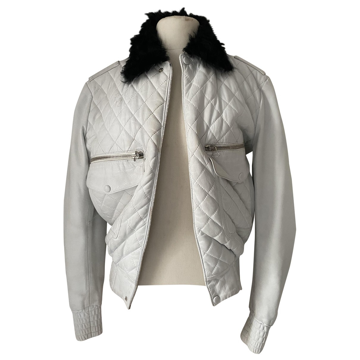 J.w. Anderson N White Leather jacket for Women XS International