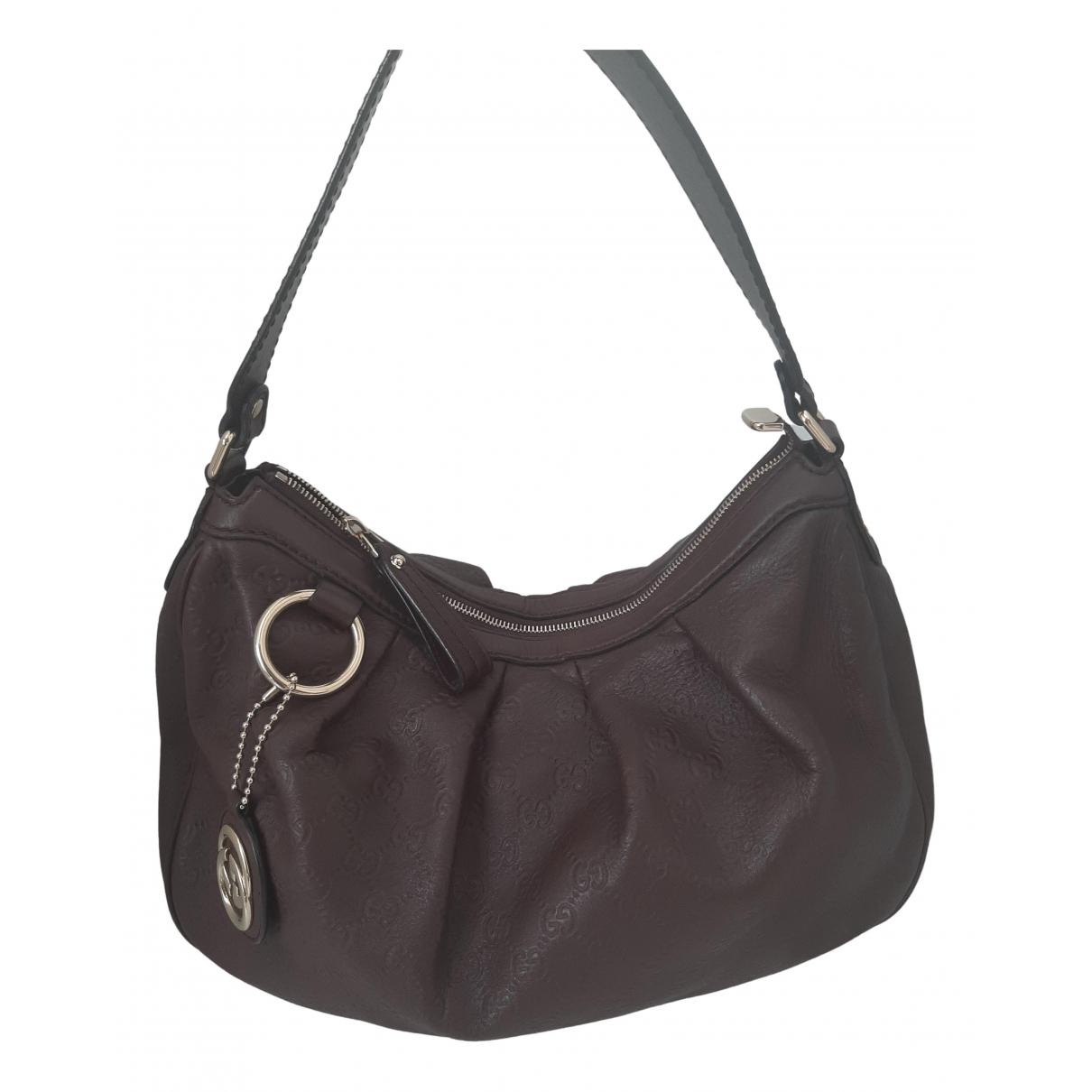 Gucci Sukey Burgundy Leather handbag for Women \N