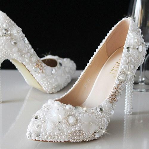 Ericdress New Rhinestone&Pearl Wedding Shoes
