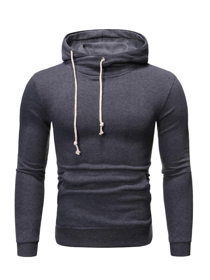 Ericdress Pocket Plain Men's Regular Hoodies