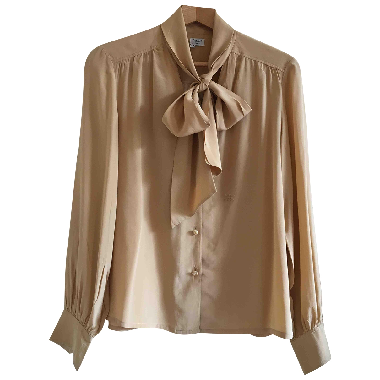 Celine \N Camel Silk  top for Women 38 FR