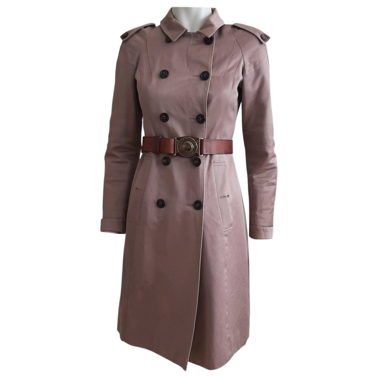 Burberry - Trench   pour femme en coton - marron