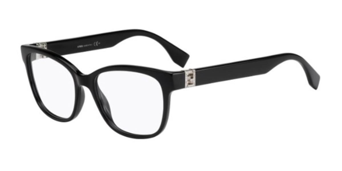 Fendi FF 0113 THE FENDISTA D28 Women's Glasses Black Size 53 - Free Lenses - HSA/FSA Insurance - Blue Light Block Available