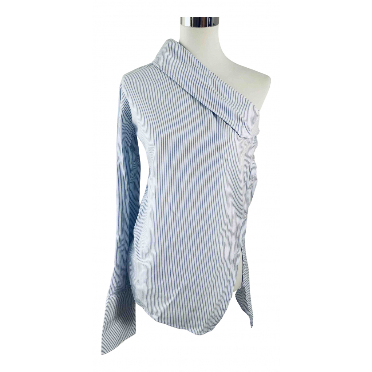 Anna Quan - Top   pour femme en coton - bleu
