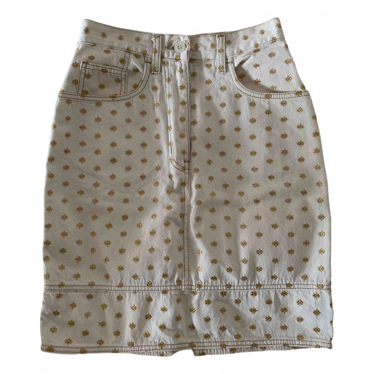 Moschino Love - Jupe   pour femme en denim - beige