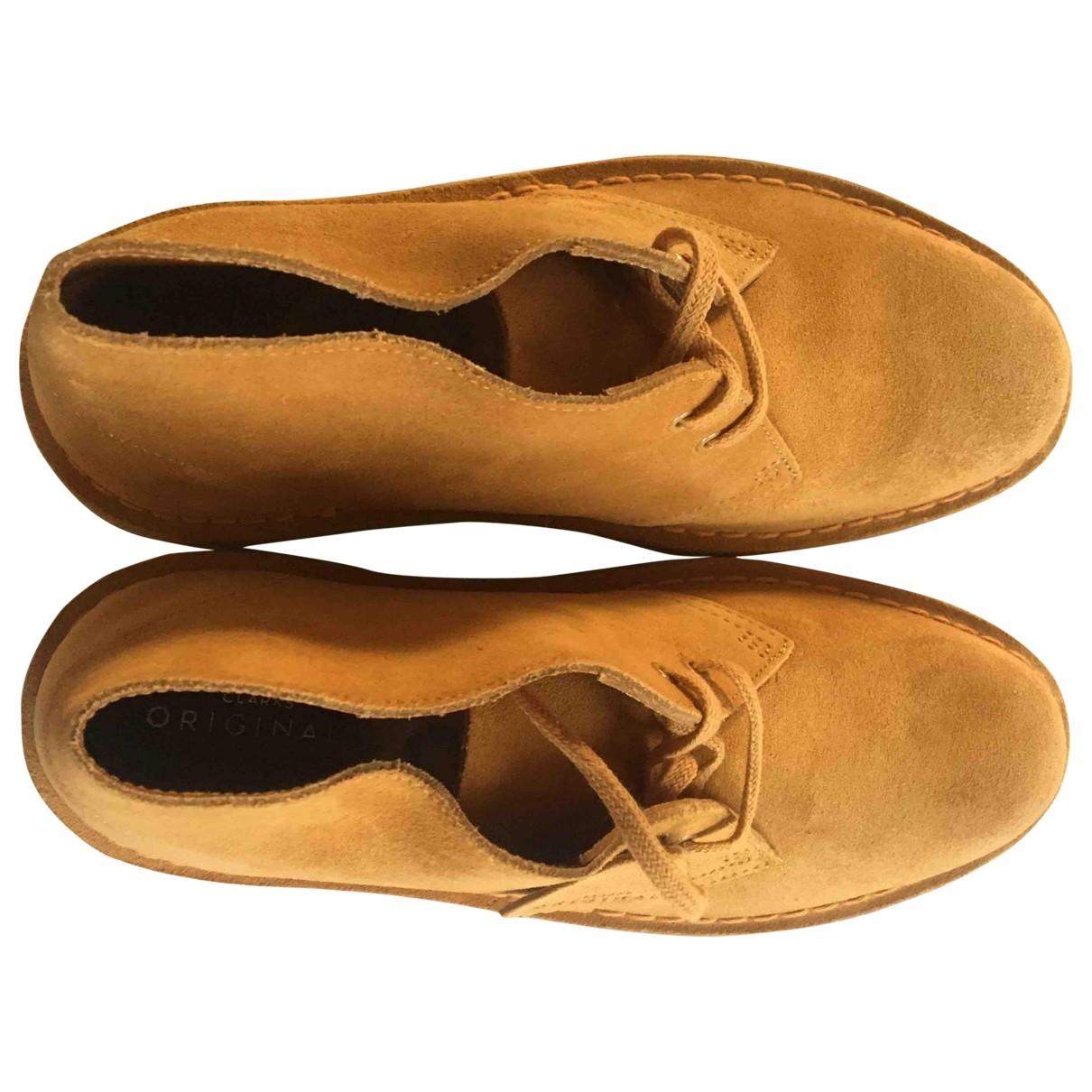 Clarks - Bottes   pour femme en cuir - jaune
