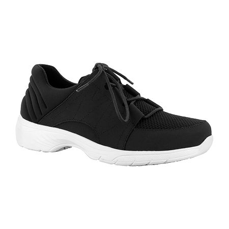 Easy Works By Easy Street Womens Slip-on Round Toe Pepper Oxford Shoes, 9 1/2 Medium, Black