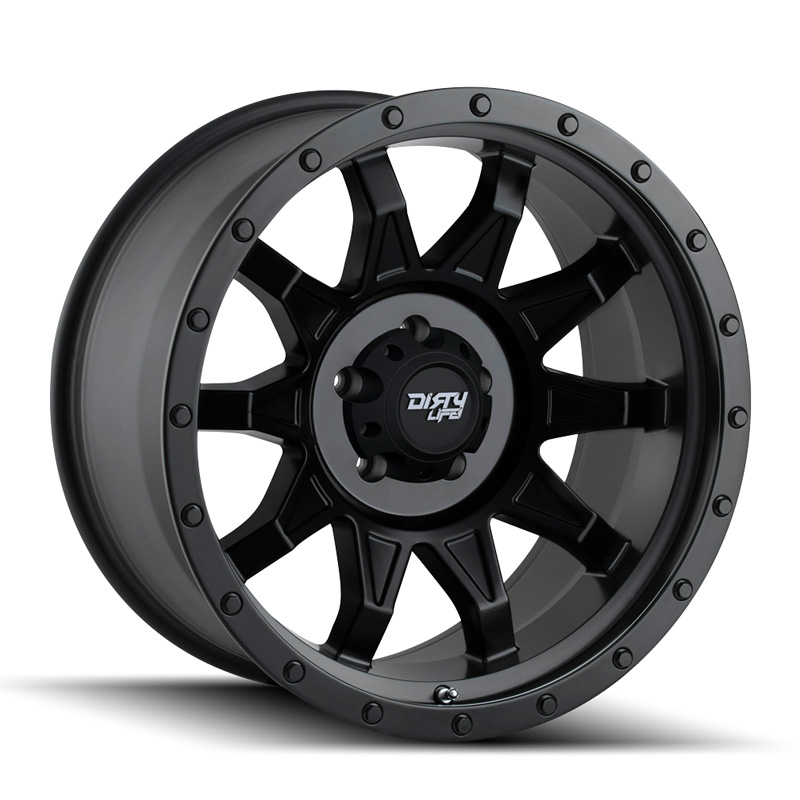 Dirty Life Dirty Roadkill Matte Black | Black Beadlock 20X9 8x165.1 18mm 130.8mm Wheel