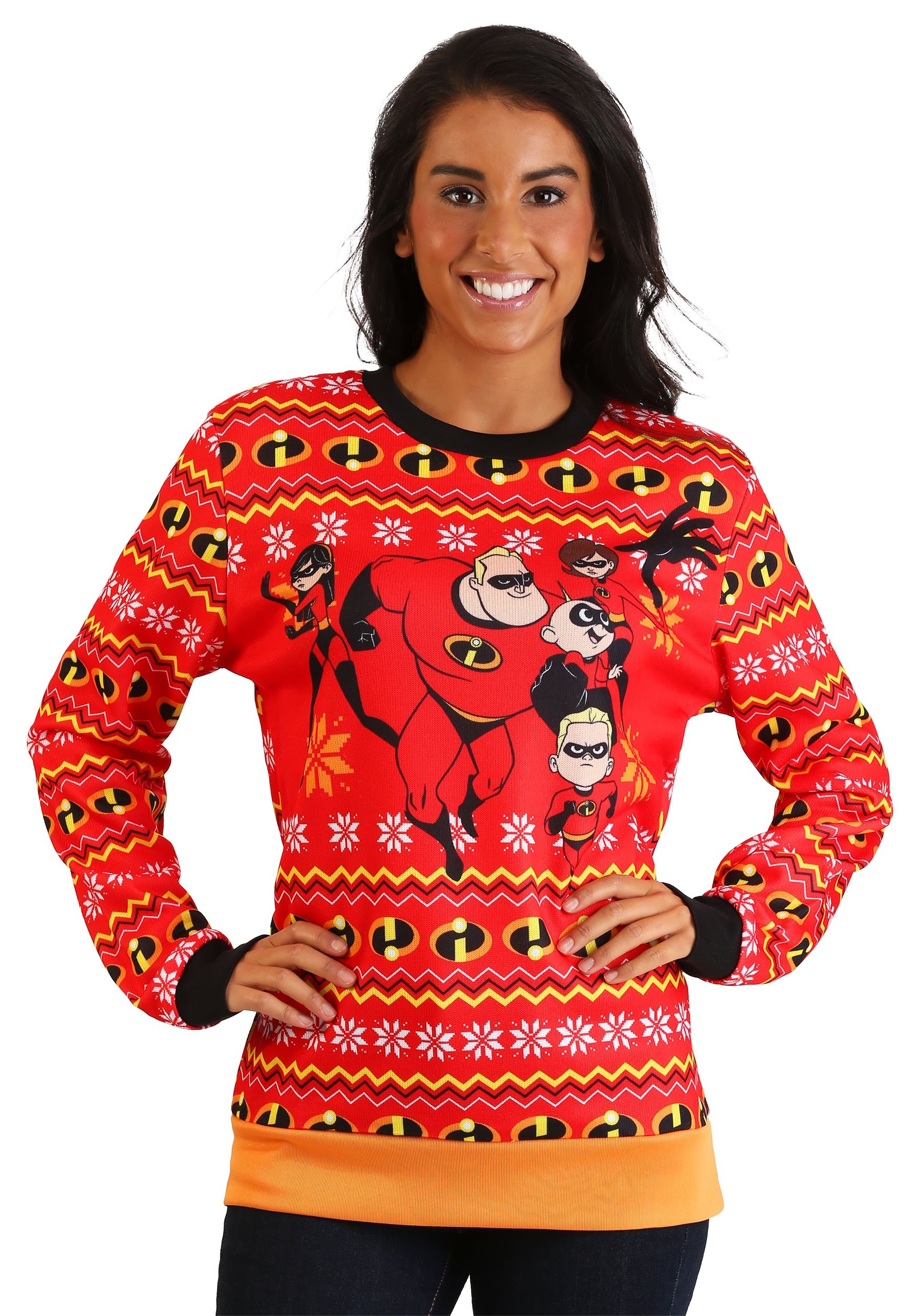 The Incredibles Red Ugly Christmas Sweater for Adults