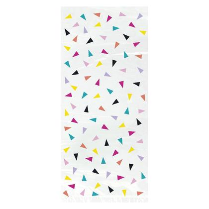 Triangle Confetti Birthday Cellophane Bags, 5