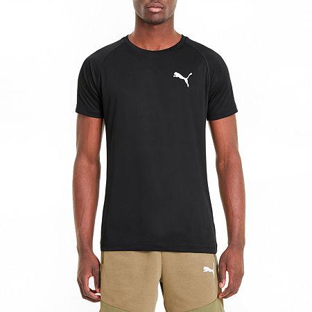 Puma Ready To Go Mens Crew Neck Short Sleeve T-Shirt, Small , Black