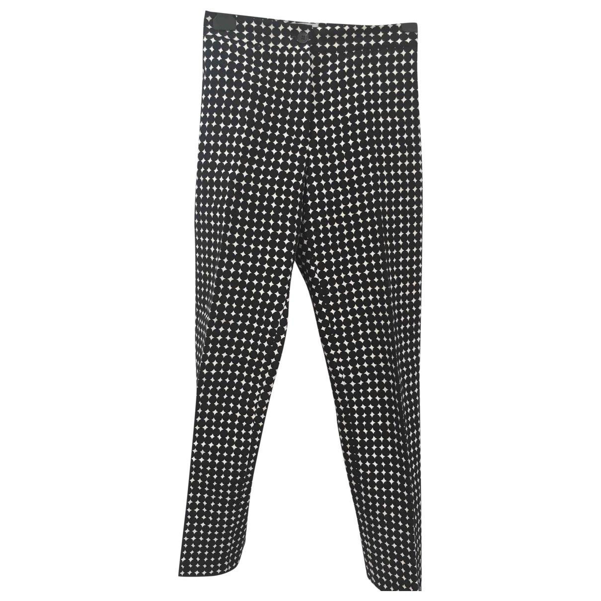 Bimba Y Lola \N Black Cotton Trousers for Women 40 FR