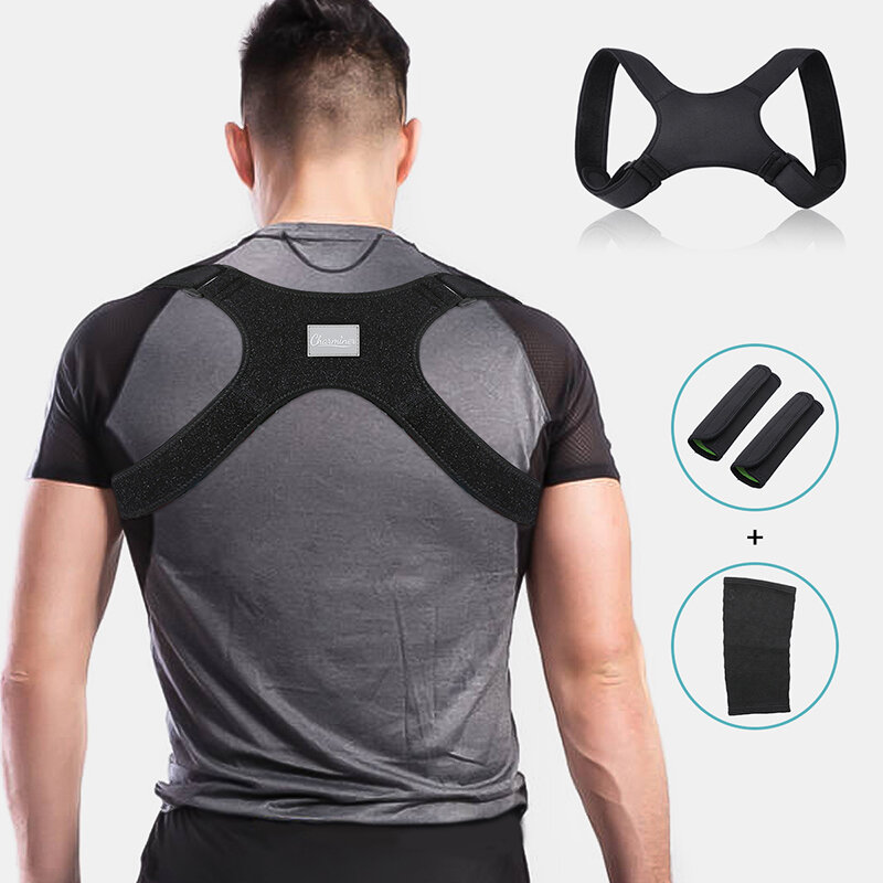 Back Correction Belt Posture Corrector Corset Prevent Slouching Kyphosis Correction Knee Pads