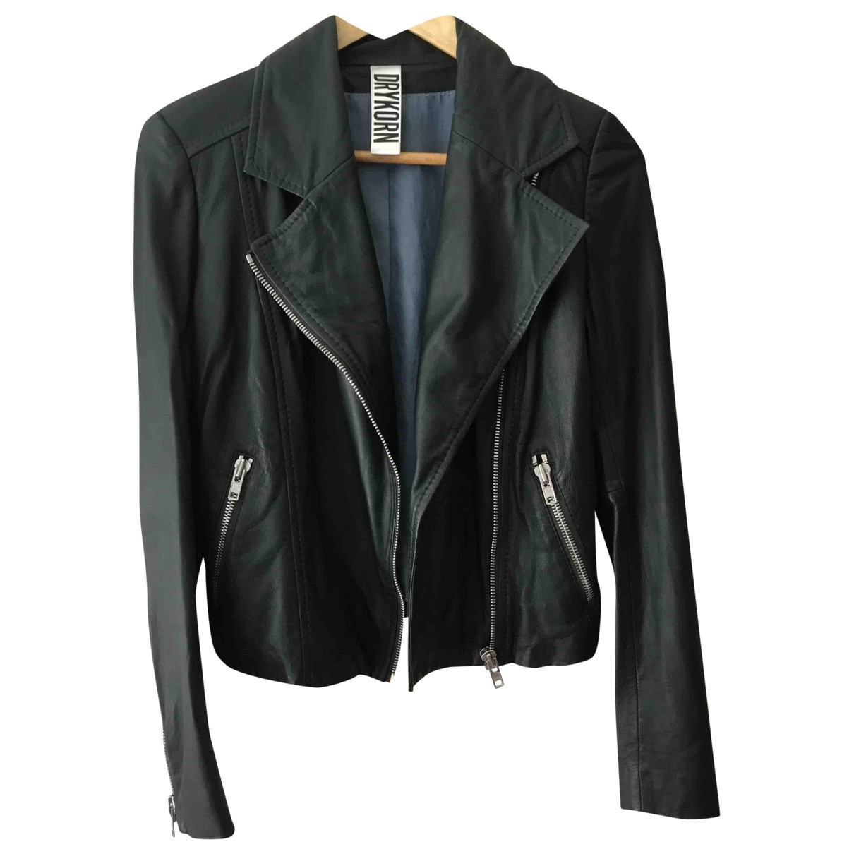 Drykorn \N Green Leather jacket for Women 40 IT