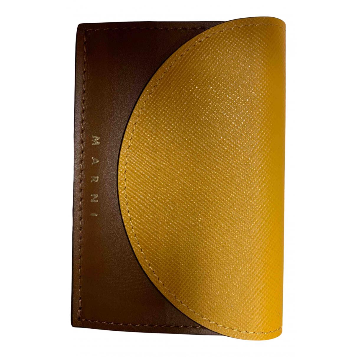 Marni - Portefeuille   pour femme en cuir - marron