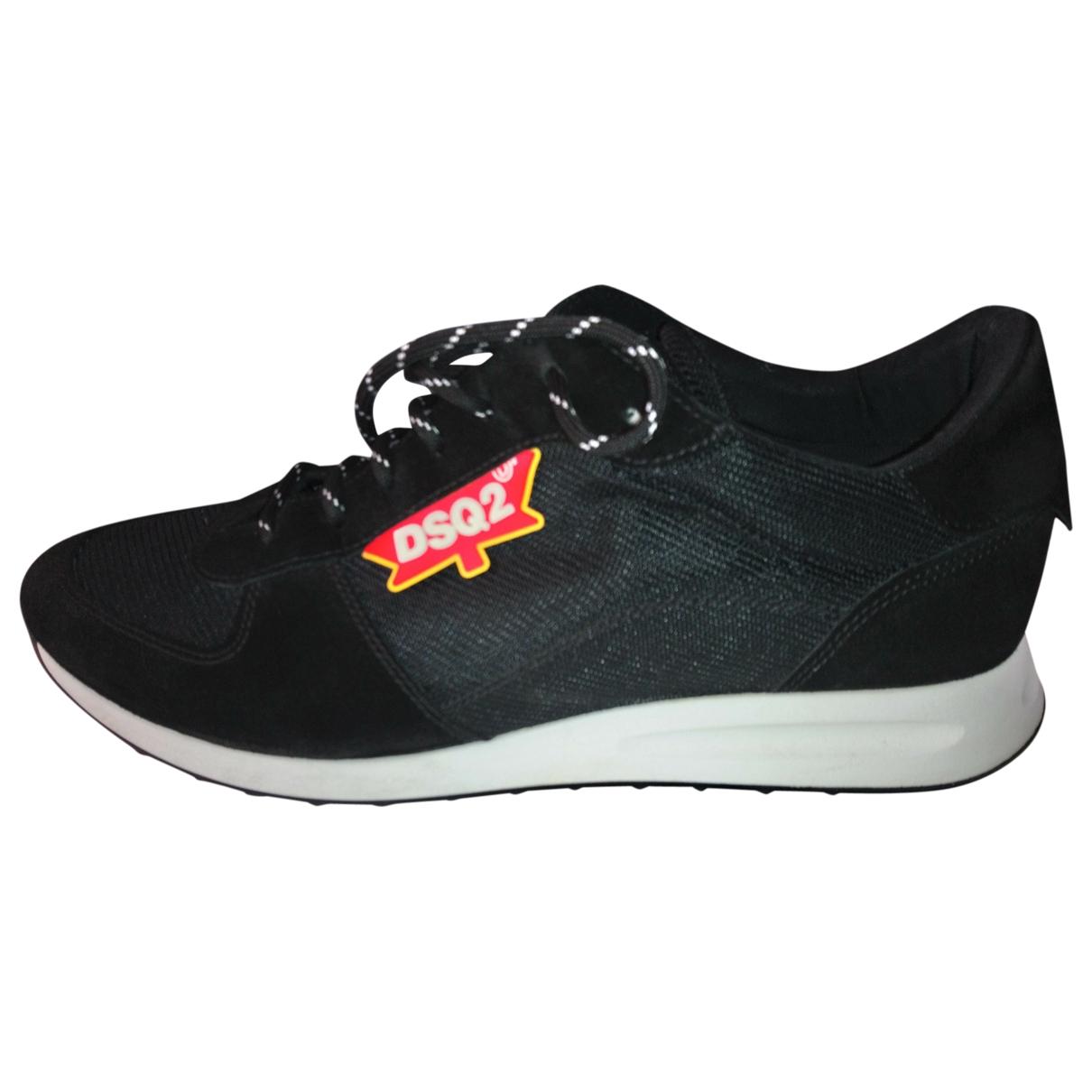 Dsquared2 \N Sneakers in  Schwarz Leinen
