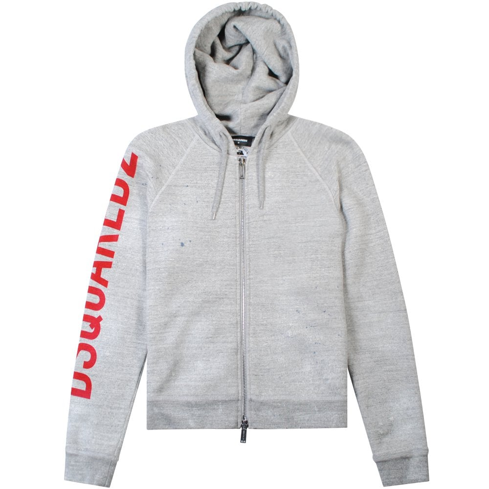 Dsquared2 Arm Logo Hoodie Grey Colour: GREY, Size: SMALL