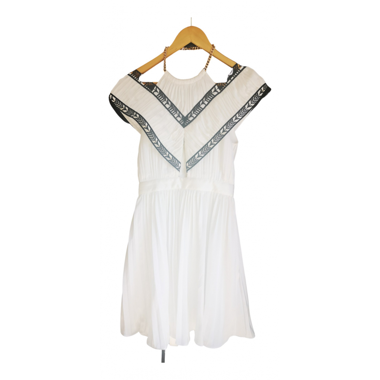 Self Portrait \N White Silk dress for Women 36 FR