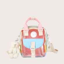Clear Backpack With Bag Charm