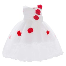 Baby Girl Appliques Bow Back Gown Dress