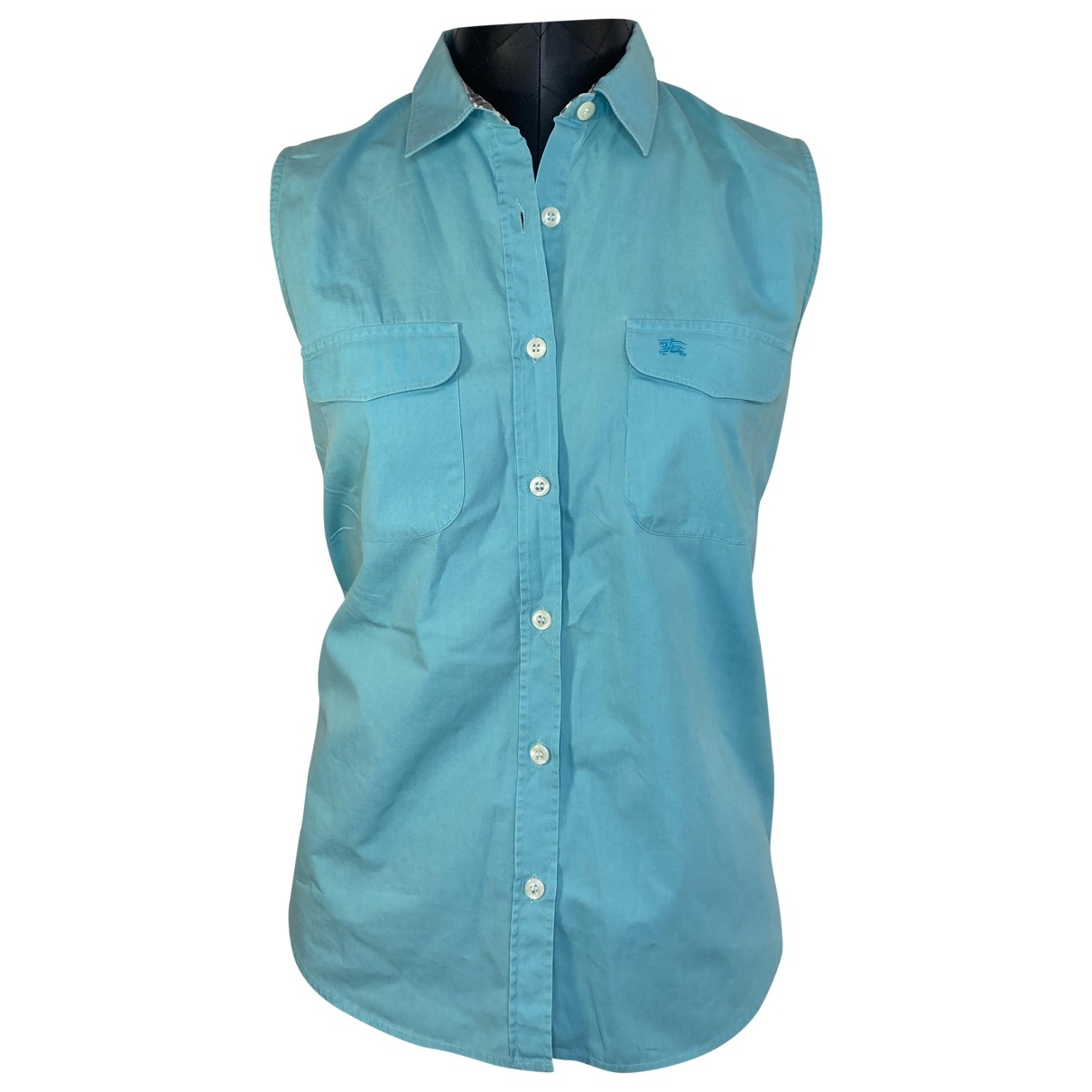 Burberry \N Blue Cotton  top for Women 40 FR