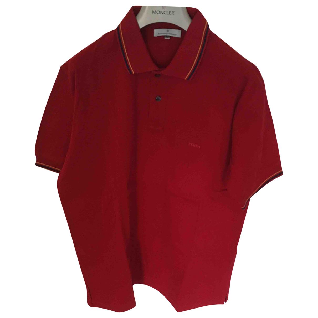 Ermenegildo Zegna - Polos   pour homme en coton - rouge