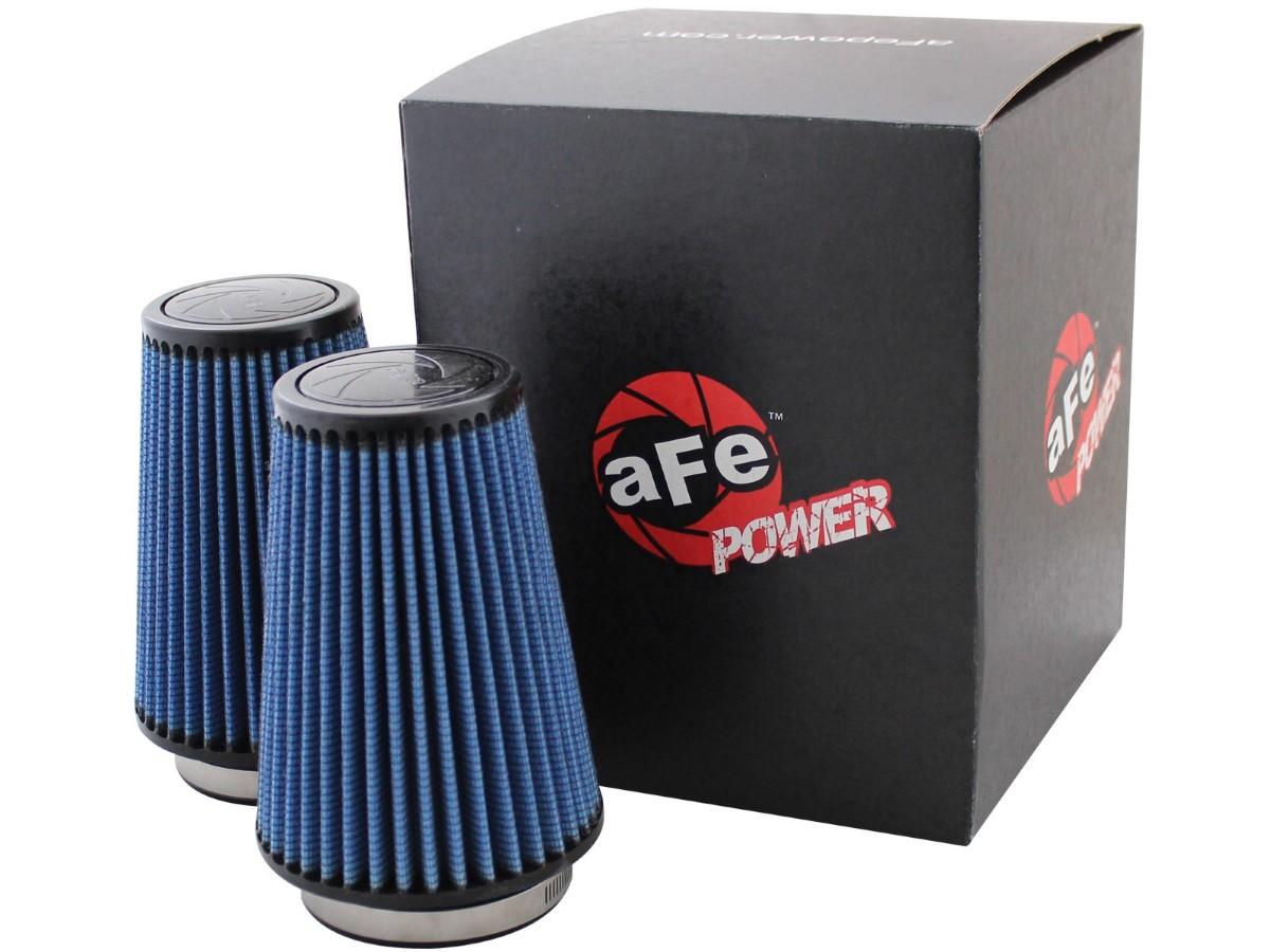 aFe Magnum FLOW Intake Replacement Air Filter w/ Pro 5R Media 3-1/2 F x 5 B x 3-1/2 T x 7 H in (1pair)